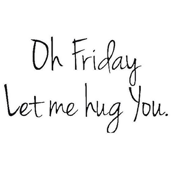 "Today on FriChats we're talking about Branding vs. Authenticity and this photo seems to embrace that the best. It says, ""Oh Friday, Let me hug you!"""