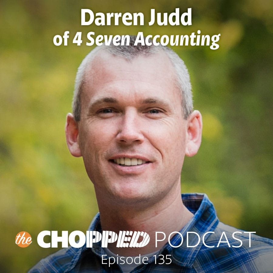 Picture of Darren Judd who is the guest on the Chopped Podcast Episode 135