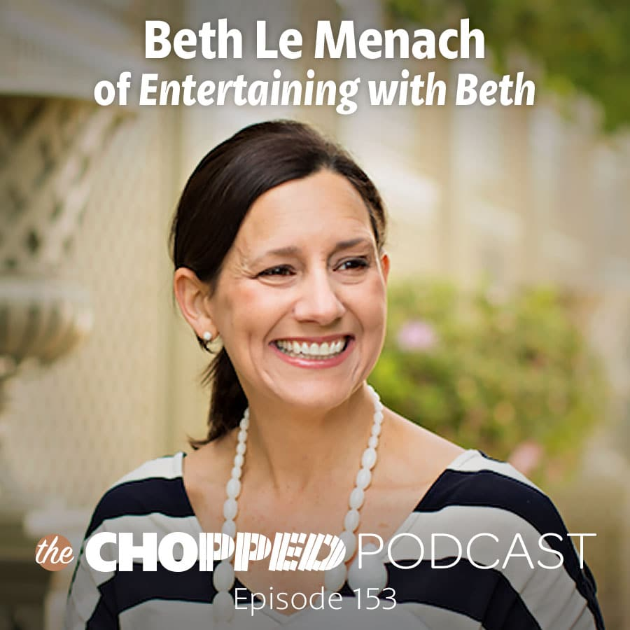 Beth Le Manach of the site Entertaining with Beth is on the Chopped Podcast and this is a photo of her.