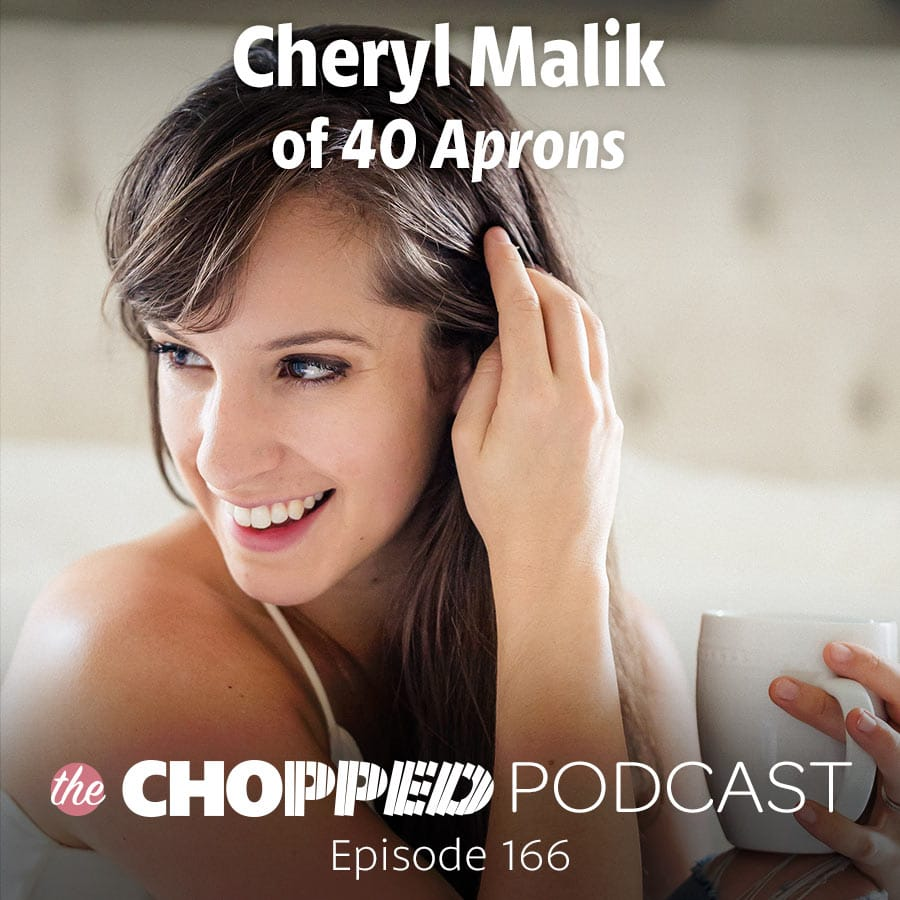 A photo of Cheryl Malik, a guest on the Chopped Podcast.